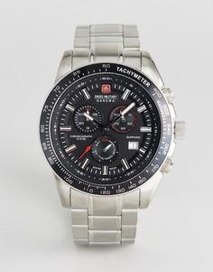 Часы с браслетом из нержавеющей стали Swiss Military Cursador - Серебряный