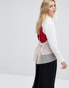 Рубашка с плиссировкой на спине MAX&Co - Белый