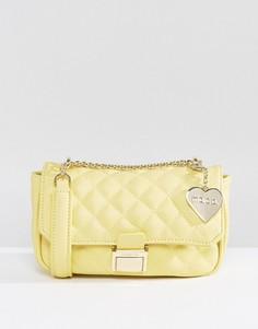 Желтая стеганая сумка через плечо Marc B Pennie - Желтый