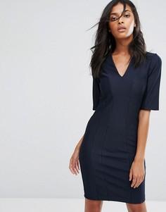 Облегающее платье с V-образным вырезом Y.A.S Alice - Черный