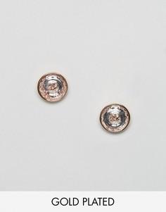 Серьги с отделкой кристаллами Ted Baker - Золотой