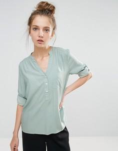Рубашка без воротника с рукавами длиной 3/4 b.Young - Зеленый