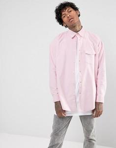 Розовая вельветовая рубашка классического кроя Jaded London - Розовый