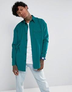 Зеленая вельветовая рубашка классического кроя Jaded London - Зеленый