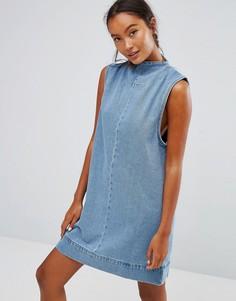 Джинсовое платье с высоким воротом Waven Ditte - Синий