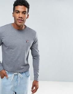 Серый лонгслив в винтажном стиле с логотипом Fila - Серый