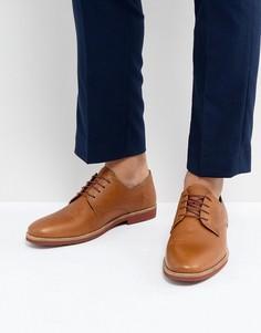 Светло-коричневые кожаные туфли дерби Red Tape - Рыжий