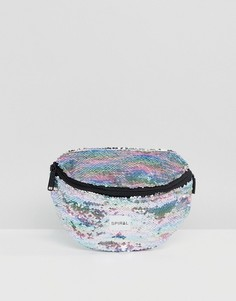 Сумка-кошелек на пояс с радужными пайетками Spiral - Мульти