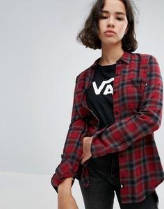 Красная фланелевая рубашка в клетку Vans - Красный