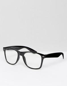 Черные квадратные очки 7X - Черный