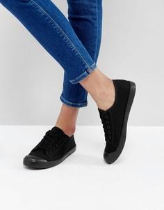 Черные кеды New Look - Черный