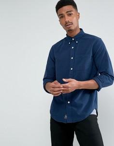 Темно-синяя облегающая оксфордская рубашка Abercrombie & Fitch - Темно-синий
