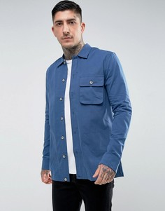 Рубашка с карманами по бокам Hymn - Синий