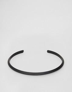 Матовый черный браслет ASOS - Черный