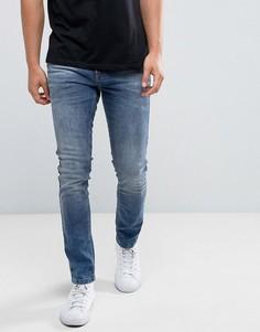 Синие джинсы скинни Brooklyns Own - Синий