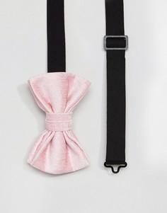 Розовый бархатный галстук-бабочка ASOS - Розовый