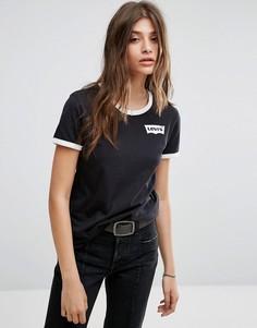 Черная футболка с логотипом Levis Ringer - Черный Levis®