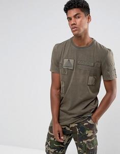 Коричневая футболка с нашивками Brooklyns Own - Коричневый