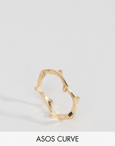 Кольцо с листиками ASOS CURVE - Золотой
