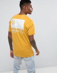 Желтая футболка с принтом на кармане Vans VA36FZ50X - Желтый