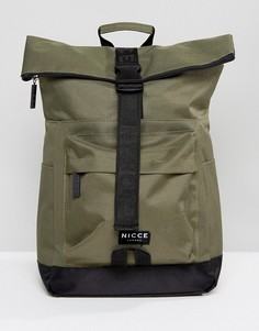 Рюкзак цвета хаки с подворачивающимся верхом Nicce London - Светло-серый