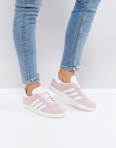 Светло-розовые кроссовки adidas Originals Gazelle - Розовый