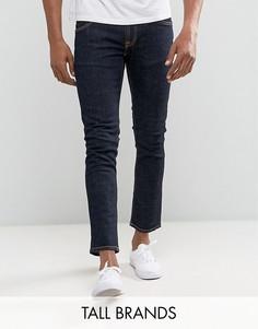 Зауженные удлиненные джинсы из саржи Nudie Jeans TALL - Синий