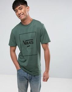 Зеленая футболка с принтом Vans VA312STHC - Зеленый
