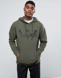 Худи зеленого цвета с камуфляжным логотипом Vans V00J8NKE3 - Зеленый