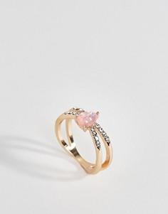 Кольцо с искусственным опалом ASOS - Золотой
