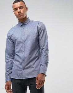 Трикотажная рубашка узкого кроя Jack & Jones Premium - Серый