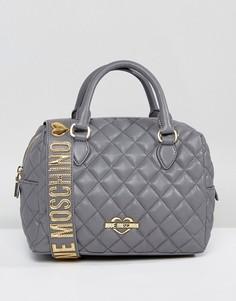 Стеганая сумка Love Moschino - Серый