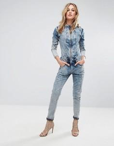 Выбеленный джинсовый комбинезон G-Star Lynn Jet Suit - Синий