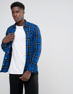 Рубашка в клетку Minimum Tramanto - Темно-синий