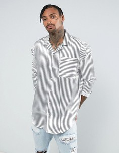 Белая оверсайз-рубашка в полоску Jaded London - Белый