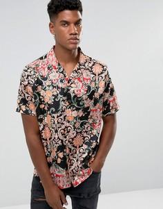 Черная рубашка с цветочным принтом Jaded London - Черный