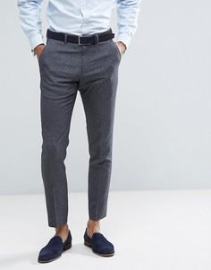 Серые облегающие брюки Burton Menswear - Серый