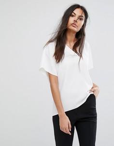 Блузка с V-образным вырезом Selected New Smile - Белый