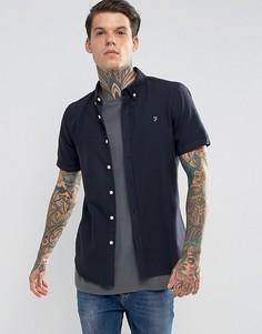 Зауженная рубашка с длинными рукавами Farah - Темно-синий