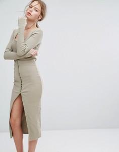 Платье на пуговицах Asilio - Зеленый