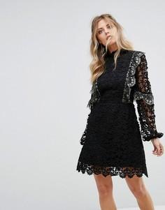 Кружевное платье мини Stevie May - Черный