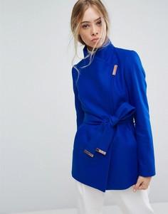 Короткое пальто с запахом Ted Baker - Синий