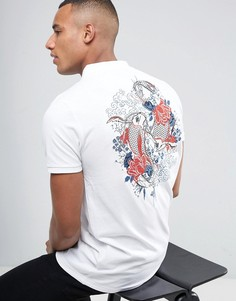 Поло с вышивкой на спине Brave Soul - Белый