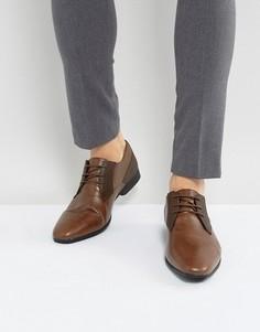 Коричневые туфли с контрастными вставками Burton Menswear - Коричневый