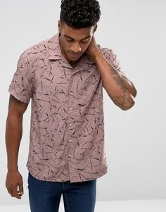 Розовая рубашка с принтом New Look - Розовый