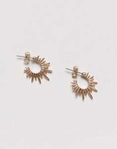 Серьги-кольца с шипами Pieces - Золотой