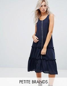 Платье с оборкой на молнии Noisy May Petite - Темно-синий