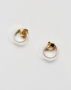 Серьги-гвоздики Pieces - Золотой