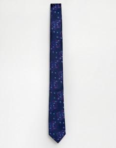 Фиолетовый галстук с цветочным принтом Burton Menswear - Фиолетовый