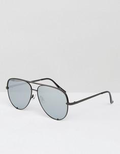 Черные солнцезащитные очки-авиаторы Quay Australia x Desi - Черный